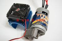 motor do ventilador mais frio venda por atacado-S Cúpula e-revo Dissipador de Calor de Metal Do Motor com Ventilador 42mm Para 1/10 1/8 escala CEN RC Traxxas caminhão