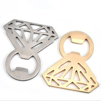Wholesale diamond ring favors for wedding for sale - Group buy Diamond Ring shape Wine Beer Bottle Openers Wedding Favors Gifts Steel Bottle Opener For Home Kitchen Bar Tools