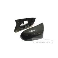 ingrosso bmw x5 f15-F15 Calotta di ricambio per specchietti retrovisori in carbonio per BMW X3 X4 X5 X6 Aggiornamento X5M X6M Look Copertura per specchietti laterali di montaggio OEM