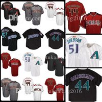 Wholesale black paul goldschmidt jersey - Men's 44 Paul Goldschmidt 51 Randy Johnson Baseball Jersey Adult Paul Goldschmidt Retro Jerseys Embroidery 100% Stitched