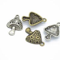 Wholesale vegetable charms for sale - Group buy 200 Mushroom Charms pendant Vegetable Pendants Antique Silver Tone antique bronze mm