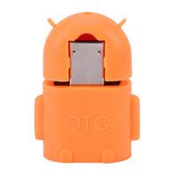 otg-tastatur groihandel-VBESTLIFE Micro USB zu USB 2.0 OTG Adapter Konverter Roboter Form Anschluss für Tablet PC zu Flash Maus Tastatur Universal