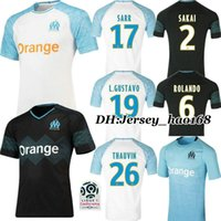 Wholesale 18 Olympique de Marseille white Home RD soccer Jersey Thai quality GOMIS Away black Marseille football shirt PAYET SANSON