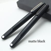 nueva pluma magnética al por mayor-Bolígrafo de resina negra mate de la serie M de edición limitada de alta calidad con bolígrafos de lujo con tapa magnética para escribir con regalo