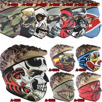 Wholesale 50pcs new men and women models windproof color bike mask outdoor sports cycling CS bike mask Bicycle mask