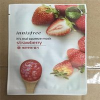 Wholesale 15 kinds INNISFREE Squeeze Mask Sheet Moisturising Face Skin Treatment Oil control Facial Mask Peels Skin Care Pilate
