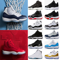 Wholesale Basketball Baskets - (with box) 11 11s Gym Red Chicago Midnight Navy WIN LIKE 82 96 UNC Space Jam PRM Heiress men Basketball Shoes sports Sneaker
