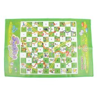 Wholesale toy snake game for sale - Folding Snakes Ladders Chess Board Game Funny Toys