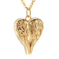 Wholesale lockets for pet ashes for sale - Group buy Retro Angel Wing Ash Keepsake Urn Pendant Necklace Hold Ashes Memorial Jewelry Ash Locket Cremation Urns Necklace For Pet Human Ashes