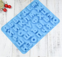 Wholesale cookies molds - Russian Alphabet Letter Silicone Cookie Molds Baking Chocolate Jelly Molds Diy Baking Silicone Ice Cube Tray Kitchen