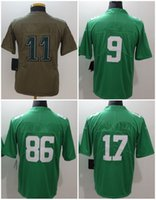Wholesale American Tags - 2018 New American Football Jersey With Name Bowl Logo Tag Men Women Youth Kids 9 11 17 20 36 56 86 91 Rush Green Troop Limited All Stitched