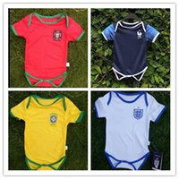 Wholesale baby boys white shirt - 2018 World Cup PortUgal kids Baby Jerseys 2018-19 fr pogba baby Spain Sleeves Brazil baby FR jersey shirt