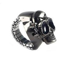 relojes vintage para unisex al por mayor-Punk Unisex Vintage Fingure Ring Watch Hombres Hora Reloj Nueva Moda Reloj Cráneo Hombre Montre Homme
