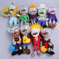 Wholesale plant vs zombies game resale online - Plants Vs Zombies Soft Plush Toys Doll Game Fun Figure Statue Baby Toy For Children Gifts sy W