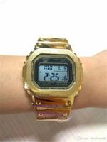 любовь часы наручные часы оптовых-Роскошные пара часы женщины мужчины наручные часы Рождественский подарок AAA высокое качество G стиль шок часы Waterpoof часы с коробкой для любви