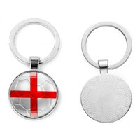 Wholesale hot countries flags for sale - Group buy 2018 Russia World Cup Football Keychain Football Match Key Buckle Metal Aluminum Alloy Country Flag Soccer Fans Souvenir Gift hot new