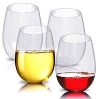 suco de frutas venda por atacado-1 pcs Plástico Inquebrável Copo de Vinho Inquebrável PCTG Vinho Tinto Copos Copos Copos Reutilizáveis Transparente Suco De Frutas Copo De Cerveja