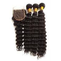 ingrosso bundle dei capelli in linea-Acquista i capelli umani vergini online intrecciare i capelli intrecciati in profondità Completa, 100g per pelo peruviano