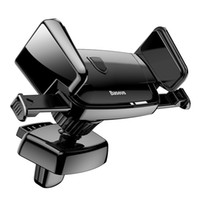 Wholesale auto vents - Baseus Car Holder Mobile Phone Holder Mechanical 360 Degree Auto Clip Air Vent Car Mount Holder Stand for Universal Phone