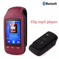podómetro de radio mp3 al por mayor-Mini Clip MP3 1037 Nuevo Reproductor de MP3 portátil 8GB Podómetro Bluetooth Reproductor de música Bluetooth Radio FM Tarjeta TF 1.8 Cronómetro de pantalla