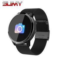 bluetooth k5 großhandel-Slimy Smart Watch IP76 Wasserdicht Blutdruck Pulsmesser Fitness Tracker Bluetooth Smartwatch PK C8 K1 K5 X2