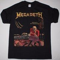 ingrosso comprare vestiti di cotone-Megadeth vende la pace ma chi compra la maglietta nera Dave Mustane Thrash Speed Magliette Abbigliamento casual di marca Cotone