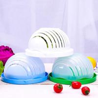 Wholesale easy slicer - 60 Seconds Salad Maker Bowl Vegetable Fruits Cutter Slicer Easy to Make Healthy Fresh Salad Kitchen Tools 36pcs OOA5007