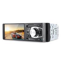 ingrosso telecomando della macchina fotografica del bluetooth-Radio Car MP4 MP5 Player 1 Din Lettore video da 4,1 pollici con telecamera per la retromarcia Telecomando Bluetooth Stereo AUX FM USB TF per auto + B