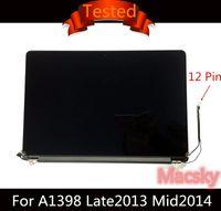 pantalla lcd macbook pro al por mayor-Original Retina 15.4 '' A1398 Ensamblaje de pantalla LCD completa para Macbook Pro 15