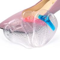 schmetterlingsschocks großhandel-Silikon Flip-Flops Füße Slipper Schmetterling Muster Vorfuß Pad Clip Aufkleber Slipper Pad Aufkleber transparent weich stoßdämpfend