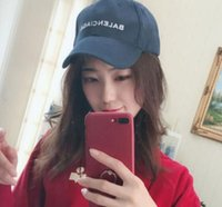 Wholesale kpop hats - kpop Luxury brand BINB 2017 Logo Blue Embroidery hats 6 panel skateboard Black snapback dad hats casual visor gorras bone casquette