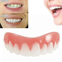 Wholesale flex tools - Perfect Instant Smile Comfort Fit Flex Teeth Whitening Denture Paste False Teeth Upper Cosmetic Fake Tooth Cover Beauty Tool Dentures