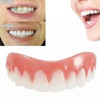 instant schönheit großhandel-Perfekte Instant Smile Comfort Fit Flex Zahnaufhellung Prothese Falsche Zähne Oberen Kosmetische Gefälschte Zahnabdeckung Schönheit Werkzeug Zahnprothesen