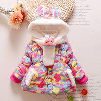 ingrosso giacca coniglio dei ragazzi-Cute Rabbit Baby Winter Jacket Spessa Cotton-Padded Baby Girl Capispalla Infant Boys Parka Toddler Girls Snow Wear Coat