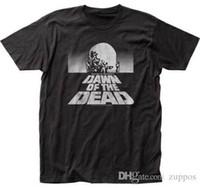 moda do amanhecer venda por atacado-Verão Estilo Moda DAWN OF THE DEAD-BW Cartaz-T-shirt S-M-L-XL-2XL Nova Marca Oficial T Camisa Nova Marca de Roupas Casuais