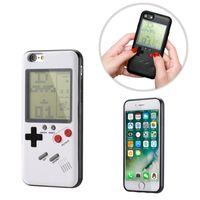pc spiel weich großhandel-Gameboy Tetris Phone Cases für iPhone 7 8 Plus 6 6 X Hart PC Soft TPU kann Blokus Spielkonsole Abdeckung spielen