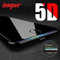 verres trempés iphone complet achat en gros de-pour 5D lunettes iphone 6 6s film de verre de couverture complète iphone6 protecteur d'écran 4d pour iphone 6 6s plus 7 8 plus x verre trempé 3d