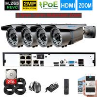 poe système de sécurité à domicile achat en gros de-H.265 4CH 5MP POE NVR Système 4pcs 48V 2MP 1080P 2.8mm-12mm Zoom motorisé POE Caméra de sécurité IP Kit de vidéosurveillance domestique