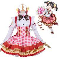 buquês de amor venda por atacado-traje cosplay Love Live Projeto Escola Idol Yazawa Nico Flower Bouquet Vista Outfit Uniforme Costumes Cosplay Anime