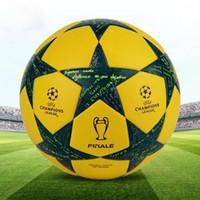 champion liga fußball bälle großhandel-Offizieller Fußball der hohen Qualität Meister-Liga für Fußballspiel-PU-Standardfußball der Spielberufsgröße 5 freies Verschiffen