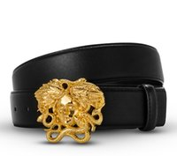Wholesale Golden China - China Designer Genuine Leather Designer Medusa Belt for the women men with the orignal retail boxes