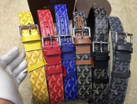 Wholesale golden layer - 2017 Cow Genuine Leather Men Belts Luxury Automatic Buckle Belts For Men Black Brown Colors First Layer Cowhide Belt