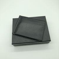 Wholesale Vintage Money Clips - 2018 Luxury Men's Soft Leather Deluxe M B Money Clip Black Short Credit Card Holder MT Pocket High Quality Wallet Bestseller