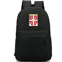 Wholesale power soccer football for sale - Group buy Serbia backpack Power national day pack Good Team school bag Football packsack Soccer rucksack Sport schoolbag Outdoor daypack