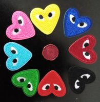 Wholesale Embroidered Heart - Heart Eye iron on patch embroidered patches for sewing Bag clothing patches