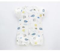 ingrosso i colori dell'orso-4 colori 2018 vestito dell'estate del cotone del pagliaccetto del vestito dal pagliaccetto sottile della tuta di estate del neonato dell'orso vibrante trasporto libero