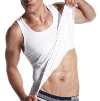 Wholesale ribbed cotton tank - Wholesale-SEOBEAN male vest fashion rib knitting cotton underwear tight vest fitness tank TOP