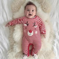 New Christmas Baby Rompers Costume Newborn Clothes Long Sleeve Red Striped Cartoon Deer Printed One Piece Jumpsuit  sc 1 st  DHgate.com & Newborn Christmas Costumes Canada | Best Selling Newborn Christmas ...