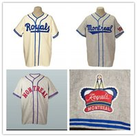 Wholesale clemente baseball jersey black for sale - Group buy Custom Montreal Royals Old School Road Flannels Jerseys Jackie Robinson Gray Roberto Clemente Cream Home Team Jersey