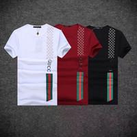 erkek parti gömleği toptan satış-O-Boyun T-Shirt Yaz erkek Giyim Rahat Üstleri Baskılı Erkekler Kazak Kısa Kollu Tişörtleri Yüksek Kalite # 0566 Boy Kaykay Parti Tees